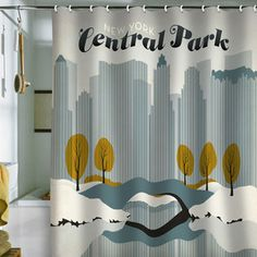 Central Park Shower Curtain now featured on Fab.