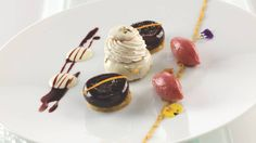 elegant dessert creation from Luxury Four Seasons Hotel George V Paris