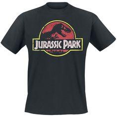 """Jurassic Park T-Shirt Manches courtes """"Classic Logo"""" noir • Commander ! • EMP"""