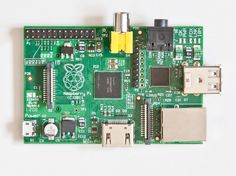 The front of a Raspberry Pi Model B. Basic things you can do with a raspberry pi