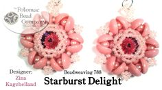 Beadweaving - Starburst Delight pattern  (12mm rivoli, plus piggy beads)