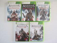 LOT 5 jeu ASSASSIN'S CREED II III ROGUE REVELATIONS INTEGRALE XBOX 360 PAL FR VF
