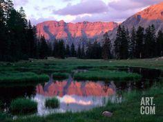 Ostler Peak at Sunset, Stillwater Fork of Bear River Drainage, High Uintas Wilderness, Utah, USA Photographic Print by Scott T. Smith at Art.com