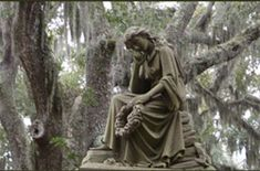 Our latest blogpost featuring #free things to do in Savannah, GA. Go to the Statue at Bonaventure Cemetery and visit the final resting place of many authors and musicians.