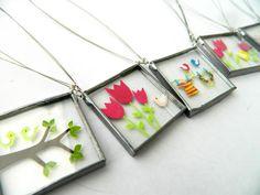 Lintu necklace  3x3 cm    www.lintu-nakit.si