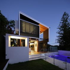 Welcome to Ideas of Amazing Modern House by Shaun Lockyer Architects article. In this post, you'll enjoy a picture of Amazing Modern House . Houses Architecture, Residential Architecture, Amazing Architecture, Contemporary Architecture, Interior Architecture, Residential Land, Minimalist Architecture, Brisbane Architects, Street House