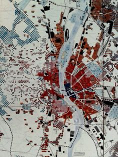 'The functional city' - CIAM 1933 - masterplan for Budapest...idk why, but i love this pcture