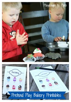 Free Pretend Play Bakery Printables! Perfect for preschoolers. {Playdough to Plato}