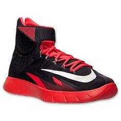 Men's Nike Zoom HyperRev Basketball Shoes  FinishLine.com   Black/Light Crimson