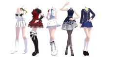 TDAxIdolm@ster Outfits Pack DOWNLOAD by KhrisMx