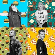 We asked four Hillsong UNITED band members about their favorite foods: JD (Hamburgers), Taya Smith (Cadbury Black Forest Chocolate), Dylan Thomas (Sushi), Matt Crocker (Pizza) #hillsongunited