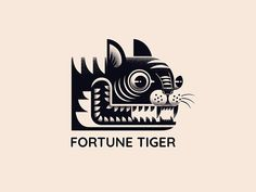 Draw Tigers Fortune Tiger logo - View on Dribbble Graphic Design Illustration, Illustration Art, Tiger Logo, Cover Wattpad, Tiger Artwork, Design Art, Logo Design, Digital Texture, Korean Art