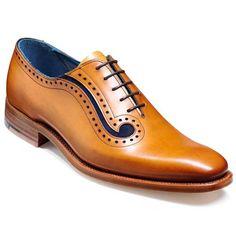 Barker Shoes - Lucas - Cedar Calf & Blue Suede