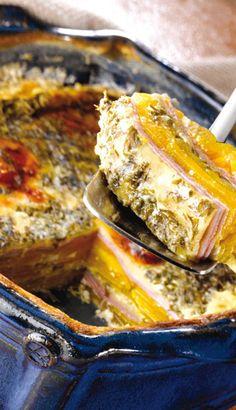 Recette Gratin dauphinois à la courge - Recettes du Québec Vegetarian Cooking, Easy Cooking, Cooking Recipes, Pumpkin Recipes, Vegetable Recipes, Tasty Bites, Pumpkin Bread, Casserole Recipes, Soups