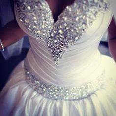 bling wedding dress