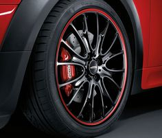 John Cooper Works18-inch Cross Spoke Red Stripe light-alloy wheel