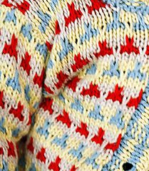 Ravelry: Speckle free pattern, slip stitch colour work, no carrying colours.