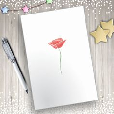 you can do it yourself with poppy printables Watercolor Poppies, Watercolor Heart, Watercolor Illustration, Diy Cards, Your Cards, Heart Clip Art, Printables, Poppy, Tulips