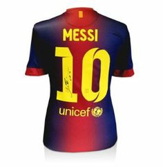 Lionel Messi Signed Barcelona Shirt - 2012-2013 - Men's Soccer Other Apparel by Sports Memorabilia. $677.28. Makes a Great Gift!. Lionel Messi Signed Barcelona Shirt - 2012-2013