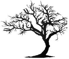 Amazing Black Tree Of Life Tattoo Design