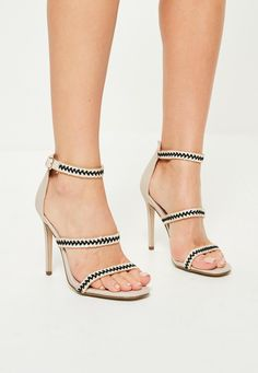 f622a6a0193b Missguided - Rose Gold Multi Strap Sandals. See more. Missguided - Nude  Braided 3 Strap Barely There Heels