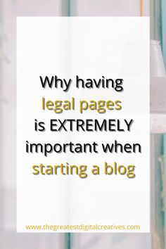 Legal pages bloggers must have to protect your blog from lawsuits. Legally protect your blog, website or online business. Every blog needs three legal pages on their site. It's the best way to legally protect your blog. How to Legally Protect Your Blog. Legal Tips for Bloggers.#bloggingtipsforbeginners #legalpagesforbloggers #bloggingtips #affiliate
