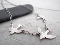 Sparrows in Flight by LostSparrowJewelry