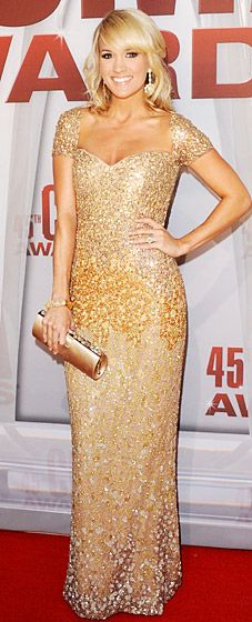 I want her haircut and style, and this pretty glittery dress! carrie underwood at cma awards