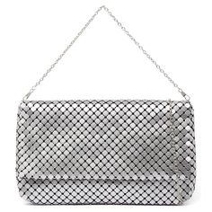 BRIGHT by I LOVE BILLY BAGS. Make a statement with this glamorous clutch. The main compartment will easily carry your after dark essentials. A detachable chain gives you the option of wearing it over your shoulder. Man-made upper and lining. White Handbag, After Dark, Shoulder Bag, Tote Bag, Purses, Chain, My Love, Essentials, Bags