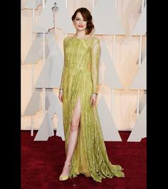 Emma Stone, we want this dress in every color!
