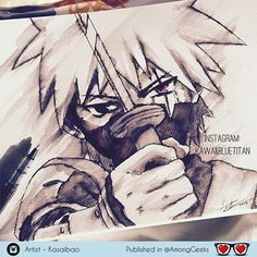 Hatake kakashi . . . #kakashi #hatake #hatakekakashi #naruto #narutoshippuden #uzumakinaruto #Draw #Drawing #Art #Fanart #Artist #Illustration #Design #sketch #doodle #tattoo #Arthelp #Anime #Manga #Otaku #Gamer #Nerdy #Nerd #Comic #Geek #Geeky . . Geek drawings gallery.  Use #AmongGeeks for a chance to be featured  Artist credit
