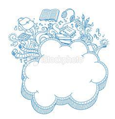 Cloud Frame Doodle Royalty Free Stock Vector Art Illustration