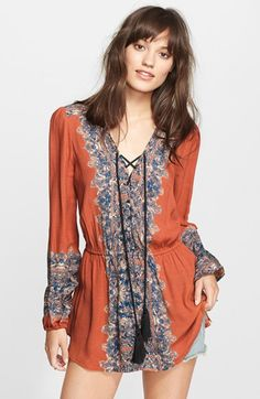 Free People 'Wildest Moment' Print Tunic available at #Nordstrom