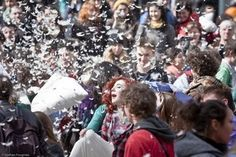 April 7th is INTERNATIONAL PILLOW FIGHT DAY