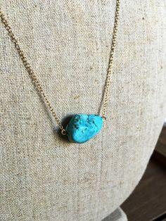 Turquoise Pendant Necklace by BohoBabeShop on Etsy https://www.etsy.com/listing/460940573/turquoise-pendant-necklace