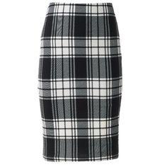 Women's Plus-size Plaid Pencil Skirt | Plaid pencil skirt ...