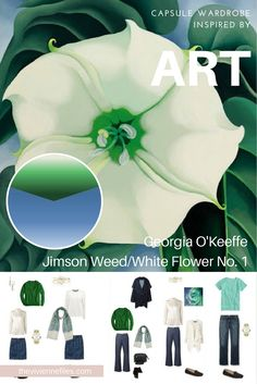 How to Build a Capsule Wardrobe by Starting with Art: Jimson Weed/White Flower No. 1 (1932) by Georgia O'Keeffe