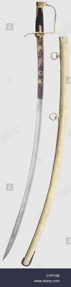 A Sabre Officers, Of Light Cavalry. Fluted, Curved Blade, The Lower Stock Photo, Royalty Free Image: 51500327 - Alamy