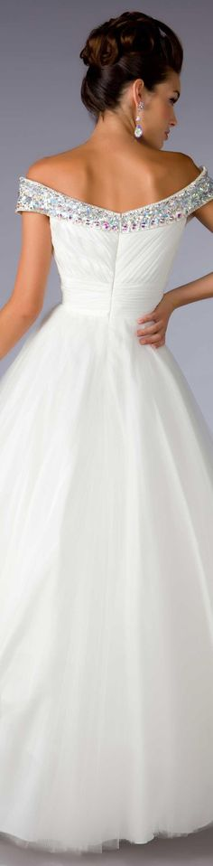 Mac Duggal couture dress white #long #formal #dress BALL GOWNS  STYLE 2653H BACK