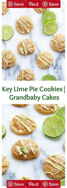 Key Lime Pie Cookies | Grandbaby Cakes  #Easy