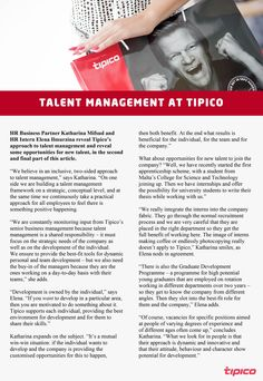The long awaited second part of our talent management article!  Read what Tipico has to offer for new talent joining the company.