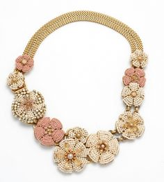 Miriam Haskell is a genius...yes she is. Matching floral, pearl, and dead bead necklace