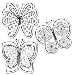 """Color-Me Butterflies 6"""" Designer Cut-Outs new to CTP! Students can now color on these cut-outs to decorate your room with bright colors and unique designs!"""