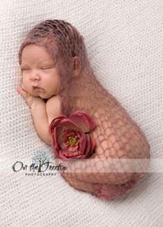 Brown Baby Wrap Photography Prop Newborn Wrap by TheTinyToppers