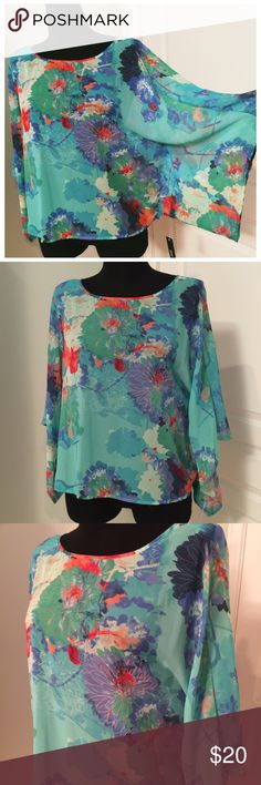 🌟NWT🌟 a.n.a. Floral Blouse Blouse is new with tags without any defects. The fabric content is 100% polyester. a.n.a Tops Blouses