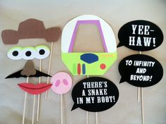 Toy Story Photo Booth Props by HippityHatsandMore on Etsy, $25.00