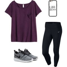 A fashion look from September 2015 featuring H&M t-shirts, NIKE and NIKE sneakers. Browse and shop related looks.