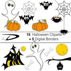 My very first Instagram post...Halloween Clipart Set!Spooky…