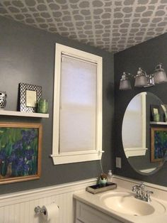 Stenciled Ceiling - might just be up to trying this sometime!!