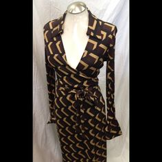 Reduced!! Vintage Diane Von Furstenberg wrap dress Rare vintage wrap dress by DVF. The color is also rare. RECUCED🍾🍸 Diane von Furstenberg Dresses Midi